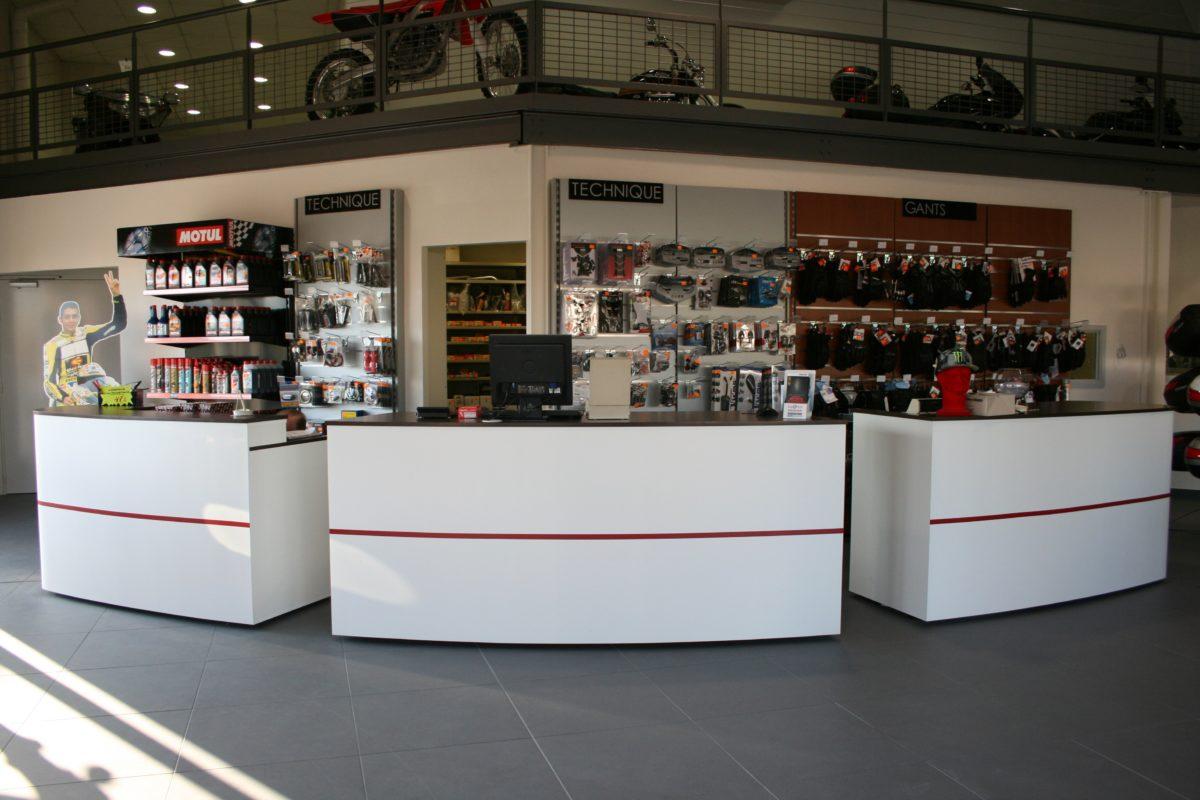 Agencement du magasin Moto Ennesser à Haguenau