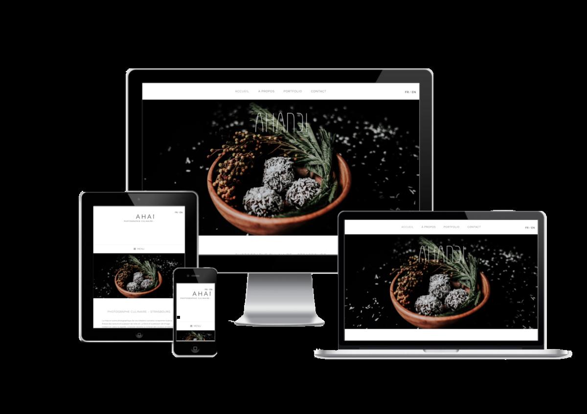 Création de site pour Ahandi, photographe culinaire