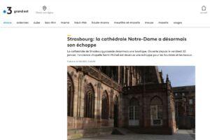 Article France 3 Grand Est Cathédrale
