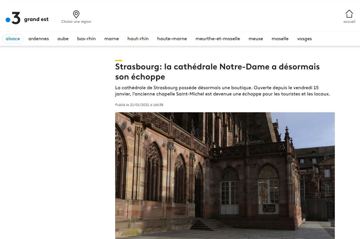 Article France 3 Grand Est Cathédrale