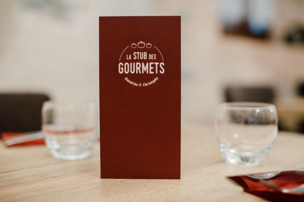 Création graphique menu restaurant Alsace