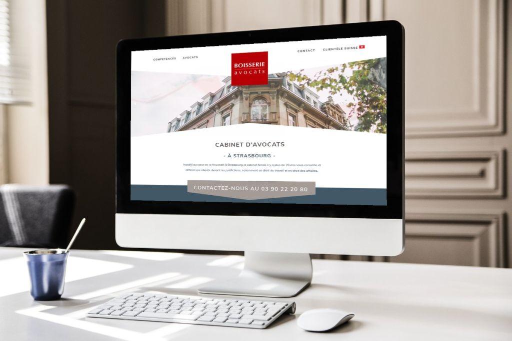 Création site internet Strasbourg cabinet avocat