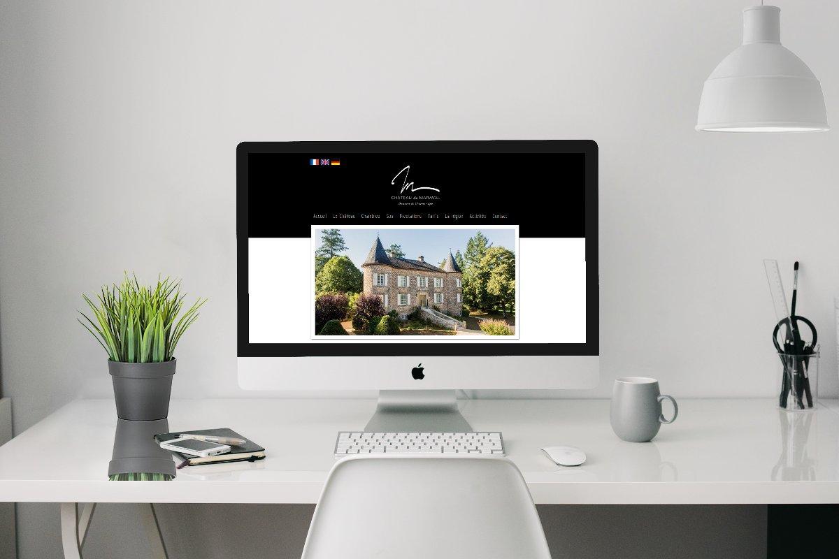 Création de site Internet // Château de Maraval