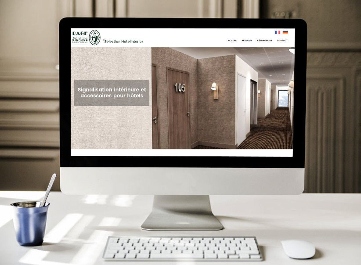 Création de site Internet // Page Selection Hotel Interior