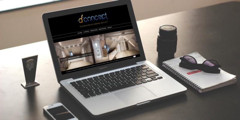 Création de site internet pour D'Concept à Strasbourg