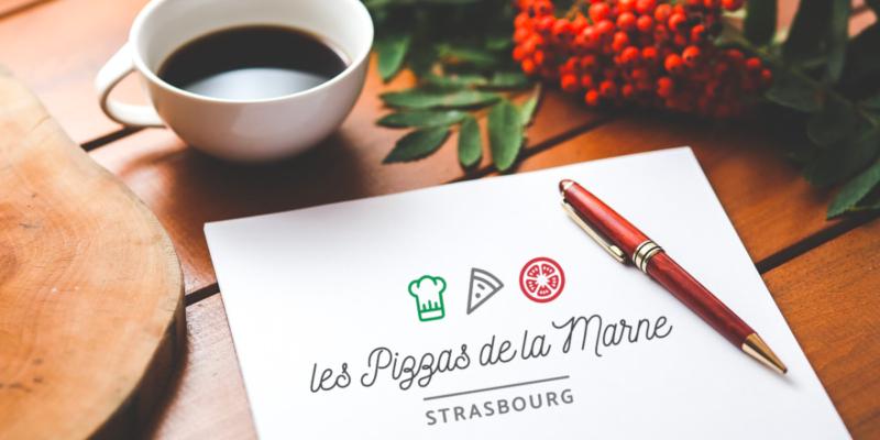 Création logo pizzeria restaurant Strasbourg