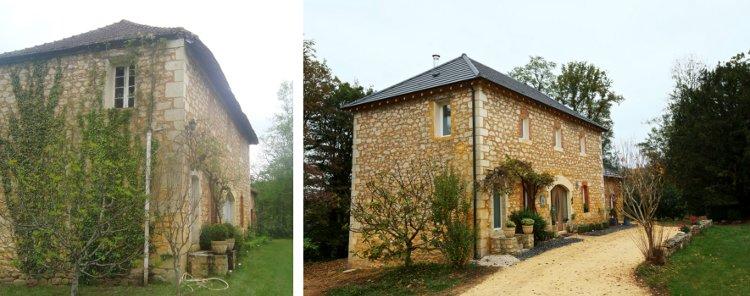 Rénovation d'une maison en pierre avant après