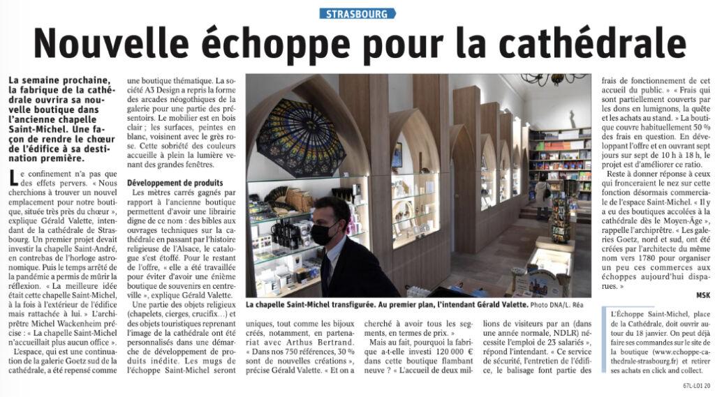 Article DNA Echoppe Cathédrale de Strasbourg