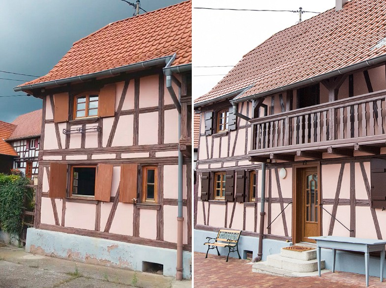 R novation maison alsacienne pr s de strasbourg a3design for Maison avant apres travaux