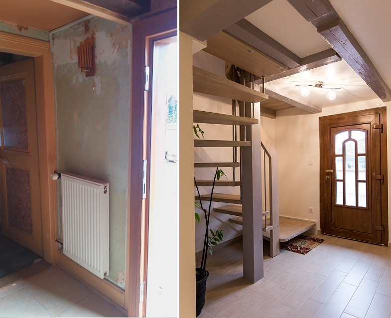 R novation maison alsacienne pr s de strasbourg a3design for Renovation maison ancienne avant apres